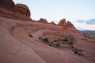 The large bowl at Delicate Arch, Utah. Picture by Andrew Tobin.