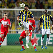 Fenerbahce's Mehmet Topuz during their UEFA Champions League Play-Offs, 2nd leg soccer match Fenerbahce between Spartak Moscow at Sukru Saracaoglu stadium in Istanbul Turkey on Wednesday 29 August 2012. Photo by TURKPIX