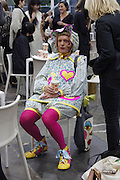 GRAYSON PERRY, opening of the 2010 Frieze art fair. Regent's Park. London. 13 October 2010. -DO NOT ARCHIVE-© Copyright Photograph by Dafydd Jones. 248 Clapham Rd. London SW9 0PZ. Tel 0207 820 0771. www.dafjones.com.