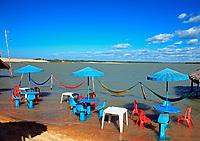 lagoon beach of tatajuba near jericoacoara in ceara state in brazil