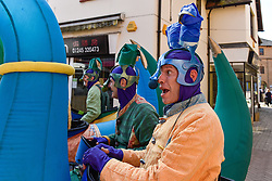The anarchic and loveable Picto Facto from France perform in South Woodham Ferrers town centre.