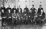 War cabinet of the Provisional Government of Russia, under Alexander Kerensky, who took over the leadership of the government on 24 July 1917. Kerensky himself sits at position no 1.