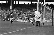 All Ireland Hurling Final - Cork vs Kilkenny.05.09.1982.09.05.1982.5th September 1982.Photographs taken as the umpire watches the ball enter the net for kilkennys third goal