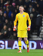 Dean Henderson of England U21's during the U21 International match between England and Germany at the Vitality Stadium, Bournemouth, England on 26 March 2019.