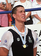 St Catharines, Ontario, CANADA 1999 World Rowing Championships. NZL M1X Rob Waddell, Gold medalist, men's single sculls,[Mandatory Credit Peter Spurrier Intersport Images] 1999 FISA. World Rowing Championships, St Catherines, CANADA