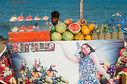 Fruit stall by the sea at Puducherry (India)