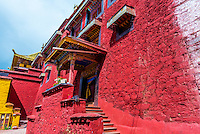 Ganden Monastery, Dagze, Tibet (Xizang), Tibet.