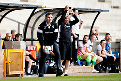 Bolton Wanderers manager Phil Parkinson throws the ball  - Mandatory by-line: Matt McNulty/JMP - 22/04/2017 - FOOTBALL - Vale Park - Stoke-on-Trent, England - Port Vale v Bolton Wanderers - Sky Bet League One