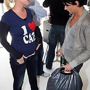 NLD/Amsterdam/20080409 - Presentatie Disney DVD en start Dutchykitten, Bridget Maasland met Dyanne Beekman in gesprek