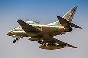 Israeli Air Force (IAF) Mcdonnell-Douglas A-4 Skyhawk (Ayit) fighter jet in flight