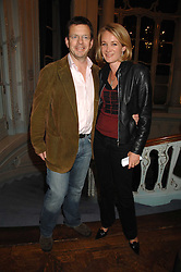 JAMES BAKER and his wife TV presenter ANASTASIA COOKE at a party to celebrate the publication of 101 World Heroes by Simon Sebag-Montefiore at The Savile Club, 69 Brook Street, London W1 on 9th October 2007.<br /><br />NON EXCLUSIVE - WORLD RIGHTS