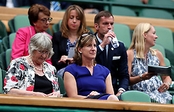 Katherine Grainger (right) in the royal box of centre court on day eight of the Wimbledon Championships at The All England Lawn Tennis and Croquet Club, Wimbledon.