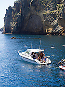 View of Poor Knights Islands, summer, Northland, New Zealand