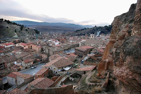 Spanje, Daroca, 26-5-2007  Dorp waar El Cid enige tijd leefde. Spain, province of Saragossa. Daroca village, where El Cid used to live for some time