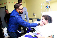 Getafe CF's coach Jose Bordalas during the Christmas visit to the Children's Hospital of the city. December 12,2017. (ALTERPHOTOS/Acero)