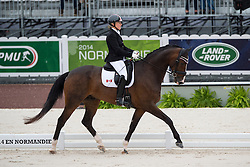 Roberta Sheffield, (CAN), Bindro T - Team Competition Grade III Para Dressage - Alltech FEI World Equestrian Games™ 2014 - Normandy, France.<br /> © Hippo Foto Team - Jon Stroud <br /> 25/06/14