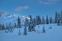 Heather Meadows Recreation Area in winter North Cascades