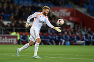 Ipswich Town  goalkeeper Dean Gerken. Skybet football league championship match, Cardiff city v Ipswich Town at the Cardiff city stadium in Cardiff, South Wales on Tuesday 21st October 2014<br /> pic by Andrew Orchard, Andrew Orchard sports photography.