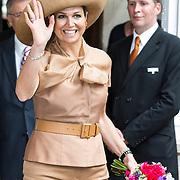 NLD/Amsterdam/20140523 - Koningin Maxima aanwezig bij Cordaid lunch voor stille helpers , Koningin Maxima