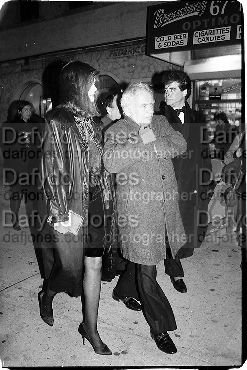 Mr and Mrs Norman Mailer and Jay Mclinery, actor studio, film benefit, Peter Marc Gallem 1988© Copyright Photograph by Dafydd Jones 66 Stockwell Park Rd. London SW9 0DA Tel 020 7733 0108 www.dafjones.com