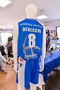 Maglia Banco di Sardegna Dinamo Sassari 2017-18, Giacomo Devecchi<br /> Presentazione Maglia Dinamo Sassari 2017-18, Dyshawn Pierre, Darko Planinic<br /> Sassari, 21/09/2017<br /> Foto L.Canu / Ciamillo-Castoria