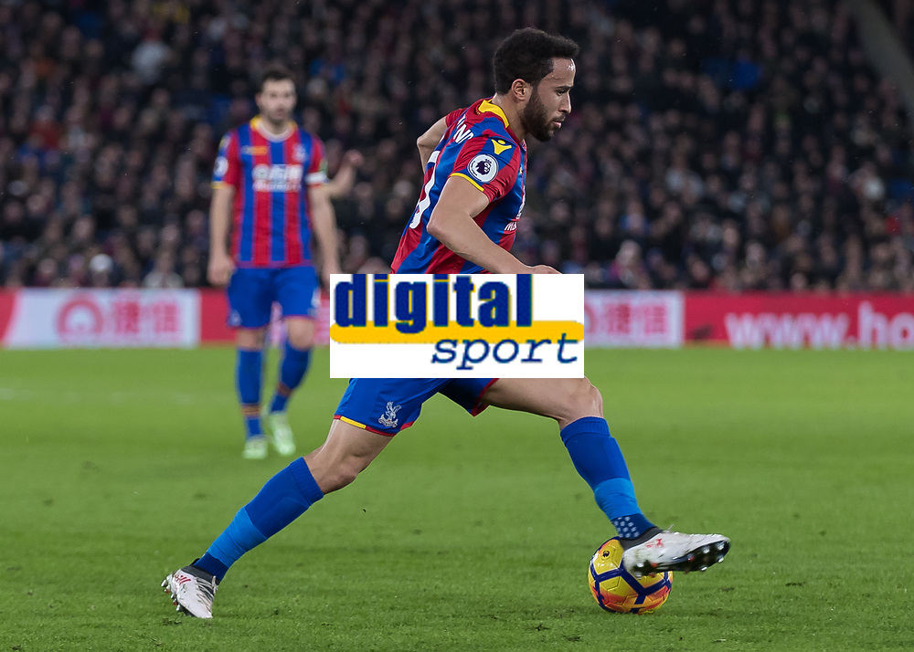 Football - 2017 / 2018 Premier League - Crystal Palace vs. Manchester United<br /> <br /> Andros Townsend (Crystal Palace) with a step over a he attacks at Selhurst Park.<br /> <br /> COLORSPORT/DANIEL BEARHAM
