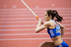 Ekateríni Stefanídi of Greece competes in the Pole Vault Women Final on day two of the 2017 European Athletics Indoor Championships at the Kombank Arena on March 4, 2017 in Belgrade, Serbia. Photo by Vid Ponikvar / Sportida