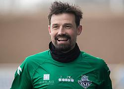 Kevin Stuhr Ellegaard (FC Helsingør) efter træningskampen mellem FC Helsingør og HB Køge den 22. februar 2020 på Helsingør Ny Stadion (Foto: Claus Birch).