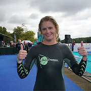 London, England, UK. 16th September 2017. Sally Blick first woman winner  - Swim Serpentine the London Classics 2 miles at Serpentine lake.