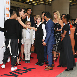 September 12, 2017 - Toronto, Canada - ANGELINA JOLIE WITH HER CHILDREN MADDOX, VIVIENNE, SHILOH, PAX AND ZAHARA - RED CARPET OF THE FILM 'FIRST THEY KILLED MY FATHER' - 42ND TORONTO INTERNATIONAL FILM FESTIVAL 2017 (Credit Image: © Visual via ZUMA Press)