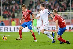November 15, 2018 - Gdansk, Poland, BOREK DOCKAL from Czech Republic (L) and ROBERT LEWANDOWSKI from Poland (R) during football friendly match between Poland - Czech Republic at the Stadion Energa in Gdansk, Poland