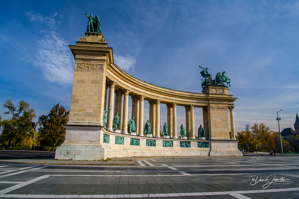 Heroes Square (Hosok tere), Budapest, Central Hungary, Hungary