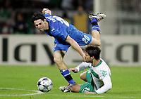 Fotball<br /> Tyskland<br /> 16.09.2008<br /> Foto: Witters/Digitalsport<br /> NORWAY ONLY<br /> <br /> v.l. Vincent Laban, Diego Bremen<br /> Fussball Champions League SV Werder Bremen - Anorthosis Famagusta