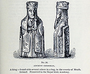 Ancient Chessman A king — found with several others in a bog, in the county of Meath, Ireland. Preserved in the Royal Irish Academy From the book  ' Athletics and manly sport ' by John Boyle O'Reilly, 1844-1890 Published in Boston, by Pilot publishing company in 1890. DEDICATED TO THOSE WHO BELIEVE THAT A LOVE FOR INNOCENT SPORT, PLAYFUL EXERCISE. AND ENJOYMENT OF NATURE, IS A BLESSING INTENDED NOT ONLY FOR THE YEARS OF BOYHOOD, BUT FOR THE WHOLE LIFE OF A MAN