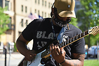 June 12 + 13, 2020. Members of Thunderboyz Pro performing for the public in Washington. D.C.'s Farragut Square. Two weeks after peaceful protesters were teargassed in Lafayette Square, the nation's capital remains on edge, those in power unwilling to confront either a racist past or an equitable future. In yellow letters 35 feet high, the street that spans two blocks between K Street NW and the White House has been renamed Black Lives Matter Plaza NW, an effort seen around the world. The area has become a pilgrimage spot for thousands of people supporting civil rights.