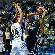 Anadolu Efes's Joshua Shipp (R) during their Turkish Basketball league derby match Fenerbahce Ulker between Anadolu Efes at the Ulker Sports Arena in Istanbul, Turkey, Monday, April 29, 2013. Photo by Aykut AKICI/TURKPIX