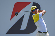Rafael Cabrera Bello (ESP) watches his tee shot on 16 during 2nd round of the World Golf Championships - Bridgestone Invitational, at the Firestone Country Club, Akron, Ohio. 8/3/2018.<br /> Picture: Golffile | Ken Murray<br /> <br /> <br /> All photo usage must carry mandatory copyright credit (© Golffile | Ken Murray)