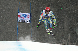 17/12/2010 ALPINE SKI WORLD CUP VAL GARDENA 2010 FIS SKI WELT CUP. Andrej Krizaj of Slovenia competes during the Audi FIS Alpine Ski World Cup Men's SuperG on December 17, 2010 in Val Gardena, Italy.  © Photo Pierre Teyssot / Sportida.com.