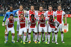 02.11.2011, Amsterdam ArenA, Amsterdam, NED, UEFA CL, Ajax vs Dinamo Zagreb, im Bild Teamphoto of Ajax Amsterdam.// during UEFA Champions League match between AFC Ajax and Dinamo Zagreb at  statium Amsterdam ArenA in Amsterdam Netherlands on 02/11/2011..EXPA Pictures © 2011, PhotoCredit: EXPA/ nph/   Ronald Hoogendoorn .+++++ ATTENTION - OUT OF NETHERLANDS +++++       ****** out of GER / CRO  / BEL ******