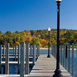 The docks at Weirs Beach on Lake Winnipesauke in Laconia, New Hampshire.