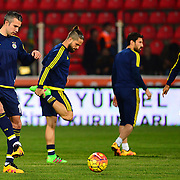 Fenerbahce's Robin van Persie (L) during their Turkish Super League soccer match Akhisar Belediye Genclik Spor between Fenerbahce at the 19 Mayis Stadium in Manisa Turkey on Sunday, 06 March 2016. Photo by TURKPIX