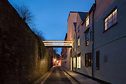 Bridge over Brewer Street, New Build on completion March 2013. Oxford, UK