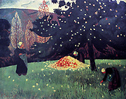 Apple Picking' by Paul Sérusier (9 November 1864, Paris – 7 October 1927, Morlaix) was a French painter who was a pioneer of abstract art and an inspiration for the avant-garde Nabi movement