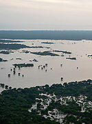 Aerial view of Tonle Sap, south of Siem Reap, Cambodia.