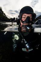 Fredrik Ihrsén.Atlantic marine life, Saltstraumen, Bodö, Norway.Model release by photographer