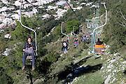Cable Car to Mount Solaro, Capri island, Campania region,  Italy