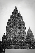 Main stone temple at Prambanan, Indonesia <br /> <br /> Editions:- Open Edition Print / Stock Image