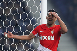 December 6, 2017 - Porto, Porto, Portugal - Radamel Falcao forward of AS Monaco FC reacts after missing a goal during the UEFA Champions League Group G match between FC Porto and AS Monaco FC at Dragao Stadium on December 6, 2017 in Porto, Portugal. (Credit Image: © Dpi/NurPhoto via ZUMA Press)