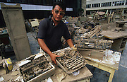 Central America, Honduras, Tegucigalpa. Office equipment destroyed. Devastation in the aftermath of Hurricane Mitch. High winds and flooding. Office equipment and typewriters. Infrastructure destroyed.