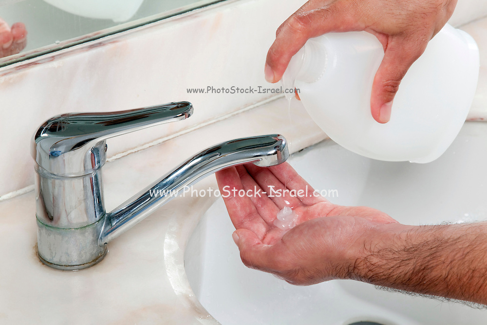 Personal hygiene - washing hands to reduce the risk of infecting others with swine flue and other diseases